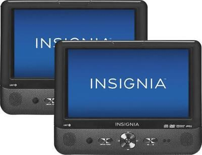 """Insignia 9"""" Dual Screen Portable DVD Players NS-DS9PDVD15"""