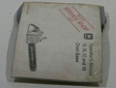 John Deere Dealer Operators Manual 121517 19 Chain Saws