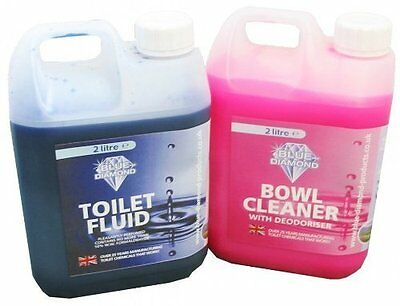 Blue Diamond Chemical Toilet Fluid Caravan Twin Pack 2L for Caravan & Motorhome