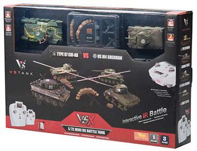 VsTank VSX 1/72 Tiger I/T34 IR Battle R/C Remote Control Tank Set RTR