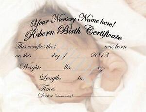 Birth certificate ebay reborn birth certificates yadclub Choice Image