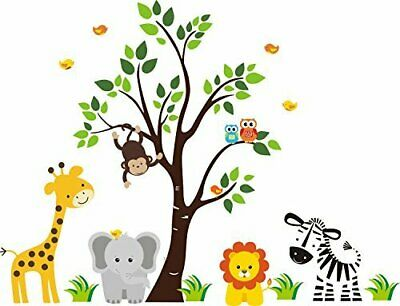 Jungle Birthday Ideas (JUNGLE SAFARI ANIMALS Baby Shower Idea Birthday Cake Topper Edible Icing)