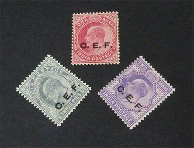 nystamps British India Stamp # M12-M14 Mint OG H $43   L30x3242