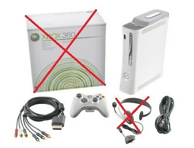 Microsoft Xbox 360 Premium 20 GB White Console (Pal) Good / 12 Months Warranty