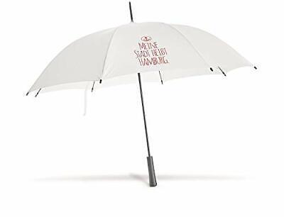 Regenschirm Meine Stadt heißt Hamburg Anker weiß Stockschirm