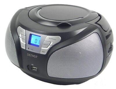 Boombox mit CD-Player, USB, MP3, Radio und Aux Denver TCU-206 BLACK Black Box Radio