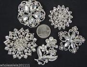 Rhinestone Brooch Lot