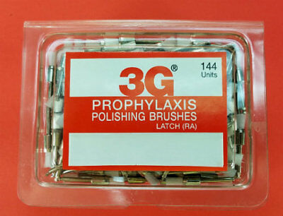 Dental Prophylaxis Polishing Brushes Brush Latch Type Box 144 Pcs 3g