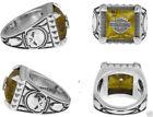 Silver Amber Rings for Men