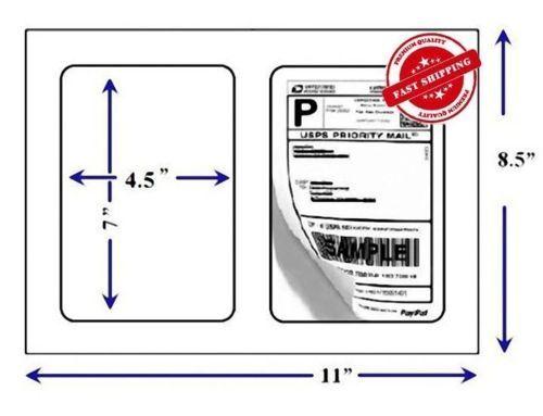 "Round Corner 1000  adhesive half sheet 7""x 4.5"" Shipping Labels LUCKYLEO"