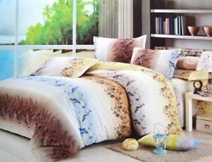 Todd Linen Cation Flower Love 3 Pcs Queen Set 1 Duvet Cover + 2 Pillow Case Bedding Set