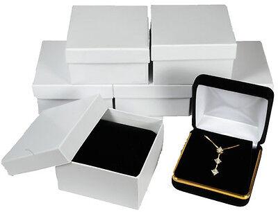 6 Piece Black Velvet Necklace Earring Jewelry Gift Box 2 58 X 2 58 X 1 38