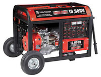 King 10000W Gasoline Generator with Electric Start & Wheel Kit