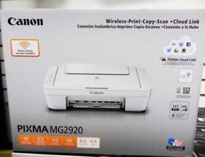New, Canon PIXMA MG2920 Photo All-in-One Inkjet Printers (Ink not included)