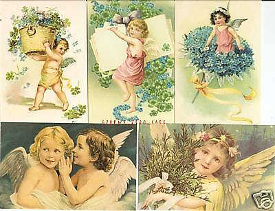 Lot of 50 Angel & Cupid Postcards  -  Factory Sealed.