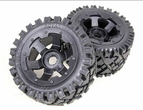 Car Parts - Rear All Terrain wheels set Fit 1/5 HPI Baja 5B rc car parts
