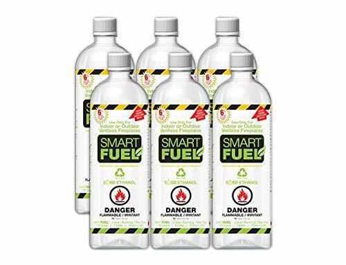 SMART FUEL Indoor Outdoor Burning Ventless Bio Ethanol Fireplace Fuel 6 Liter