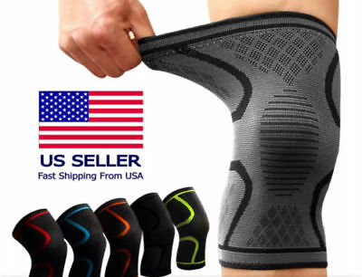 2X Fitness Running Cycling Knee Support Braces Elastic Nylon