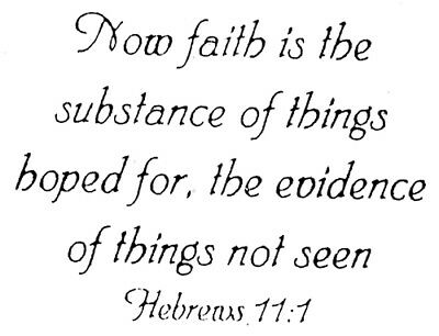 Faith Rubber (Unmounted Rubber Stamps, Christian Stamps, Bible Verses, Hebrews, Now Faith Is )