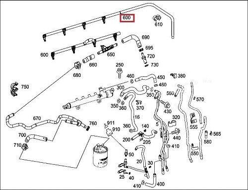 Injector Fuel Return Line Leak Off Pipe Overflow Hose Mercedes 4Cyl BG07020  | eBayeBay