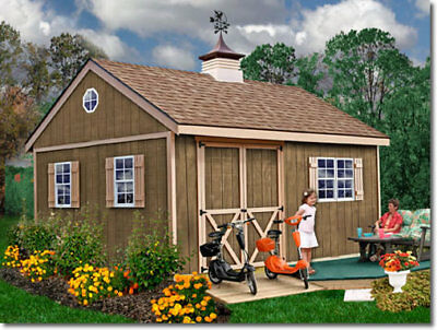 Best Barns New Castle 16x12 Wood Storage Shed Kit - ALL Pre-Cut