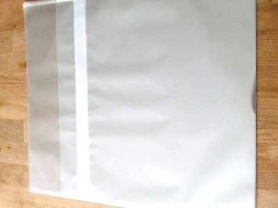 """12"""" Vinyl 1,000 Plastic Record Outer Sleeves - RESEALABLE [ Made in Japan ]"""