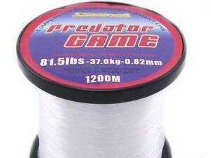 SARATOGA PREDATOR GAME 37kg 1200m TRANSPARENT MONOFILAMENT FISHING LINE MONO