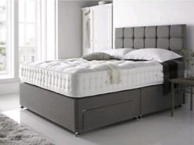 UK made Divan beds (including headboard) & mattress available