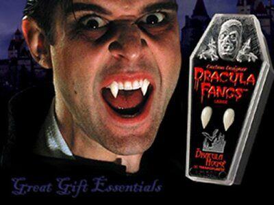 Adult Vampire Teeth (DRACULA FANGS CUSTOM VAMPIRE TEETH Adult LARGE Costume Coffin Twilight Blood)