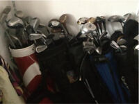 5 x golf club sets with bags + loads of balls
