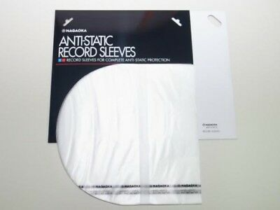RENEWAL 50pcs NAGAOKA Anti Static Plastic Inner Sleeves 12 RS-LP Free Shipping