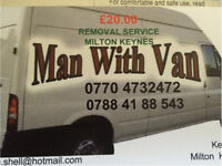 £20.00 MAN and VAN Removal service Available @ Short notice collection & delivery 07884188543
