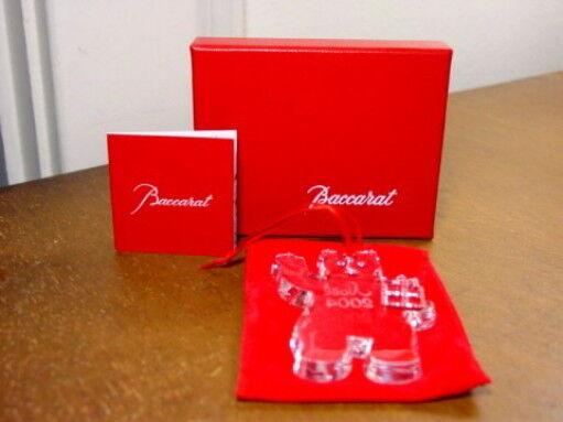 Baccarat 2004 Annual TEDDY BEAR Ornament - NEW IN SEALED BOX!