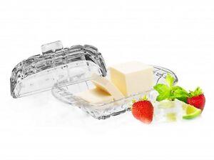 Butterdose Kühlschrankbutterdose Glas Butterglocke Butterbehälter Butterschale