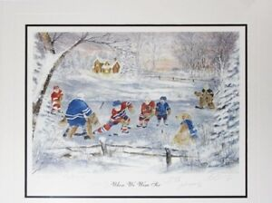 For the Avid  Hockey Collector - When We Were Six Hockey Print