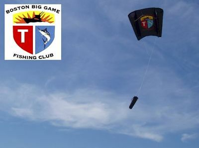 Boston Big Game Fishing Club Kite - Black - 5-25 Mph Range - NEW Fishing Kite - Fishing Fishing Games