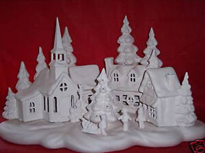 Ceramic-Bisque-Ready-to-Paint-Large-Christmas-Village-5 ...
