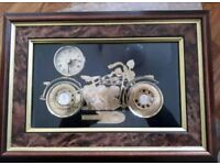 Harley Davidson Clock Montage Watch Parts Framed Picture