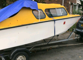 Sheltand/Microplus boat 25hp engin and trailer