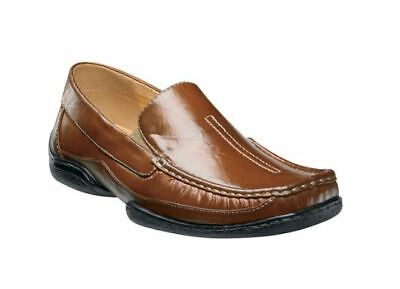 Stacy Adams MYLO Mens Cognac 24747-221 Leather Moc Toe Slip On Dress Shoes ()