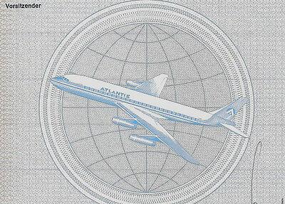 Atlantis AG Frankfurt DM Vorz. Aktie 1969 Luftfahrt Flugzeug Douglas DC 8 Hessen
