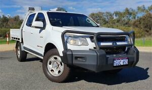 2014 Holden Colorado RG MY14 LX (4x4) White 6 Speed Manual Crew Cab Chassis Cannington Canning Area Preview
