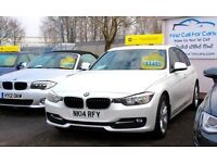 BMW 3 SERIES 2.0 316D SPORT 4d 114 BHP 1 OWNER FROM NEW SERVICE (white) 2014