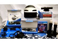 Playstation VR Headset bundle conplete with camera, two controllers plus Playstation games.