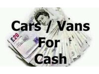 WE BUY CARS FOR CASH!!