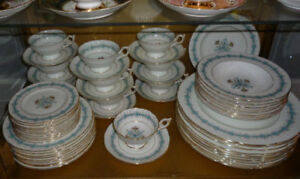 "Service de vaisselle Coalport ""Geneva"" England (150)"