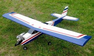 65in Balsa Aviator-40 Trainer Electric/Nitro Powered RC Plane ARF Kit