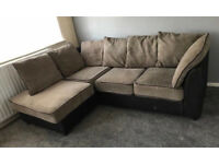 Buff 4-5 seater corner sofa can deliver