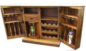Compact Wooden Bar Counter in Solid Hardwood on SALE