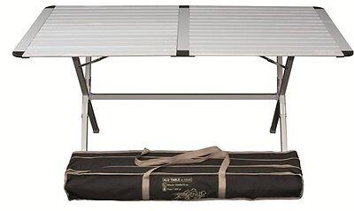 Tavolo Campeggio Alluminio Avvolgibile.Tavolo Da Campeggio In Alluminio Con Piano Arrotol